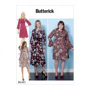 Butterick Ladies Easy Sewing Pattern 6481 Dresses with Bodice & Sleeve Options