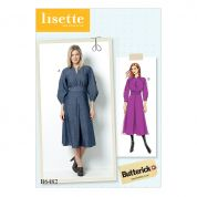 Butterick Ladies Sewing Pattern 6482 Raglan Sleeve Dress with Contrast Topstitching