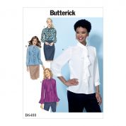 Butterick Ladies Easy Sewing Pattern 6488 Tops with Neckline & Sleeve Variations