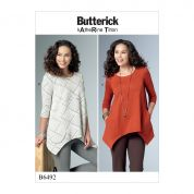 Butterick Ladies Easy Sewing Pattern 6492 Loose Knit Tunic Tops with Pockets