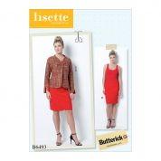 Butterick Ladies Sewing Pattern 6493 Lined Princess Seamed, Raglan Sleeve Jacket & Skirt