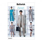 Butterick Ladies Easy Sewing Pattern 6495 Off The Shoulder Top, Dress & Jumpsuit, Jacket & Pants