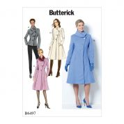 Butterick Ladies Sewing Pattern 6497 Jacket & Coats with Asymmetrical Front
