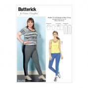 Butterick Ladies Plus Size Sewing Pattern 6498 Knit Tops & Elastic Waist Pants