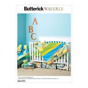 Butterick Baby Sewing Pattern 6499 Nursery Blanket, Quilt, Mattress Cover, Crib Skirt & Basket
