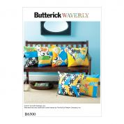 Butterick Homeware Easy Sewing Pattern 6500 Patchwork Cushions
