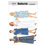 Butterick Ladies Plus Size Easy Sewing Pattern 6601 Loose Fit Dresses