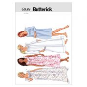 Butterick Ladies Easy Sewing Pattern 6838 Nightgowns Sleepwear