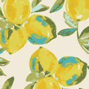 Art Gallery Fabrics Yuma Lemons Mist Cotton Canvas Dress Fabric