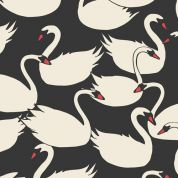 Art Gallery Fabrics Swanlings Bevy Nightfall Cotton Canvas Dress Fabric