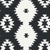 Art Gallery Fabrics Daring Tribal Noir Cotton Canvas Dress Fabric
