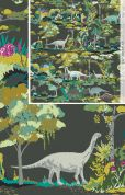 Art Gallery Fabrics Dinosauria Cotton Canvas Dress Fabric