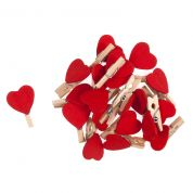 Heart Pegs  Red