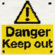 DMC Childrens Beginner Tapestry Kit Keep Out