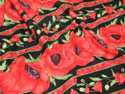 Timeless Treasures Poppy Stripe Quilting Fabric