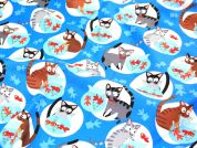 Timeless Treasures Cat's with Fish Quilting Fabric