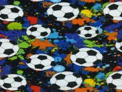 Timeless Treasures Soccer Footballs Poplin Quilting Fabric