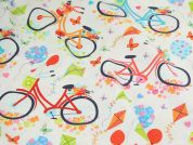 Timeless Treasures Bicycles Quilting Fabric