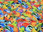 Timeless Treasures Tropical Fish Quilting Fabric