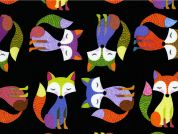 Timeless Treasures Foxes Poplin Quilting Fabric