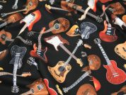 Timeless Treasures Guitars Quilting Fabric