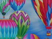 Timeless Treasures Hot Air Balloons Poplin Quilting Fabric