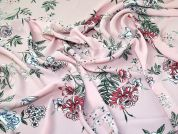 Floral Georgette Fabric  Pink