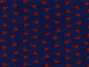 Timeless Treasures Mini Crabs Poplin Quilting Fabric