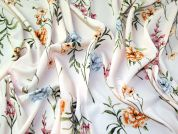 Floral Crepe Fabric  Blush
