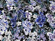Floral Georgette Fabric  Multicoloured