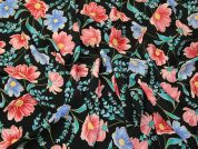 Floral Crepe Fabric  Multicoloured