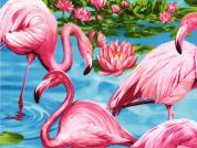Timeless Treasures Flamingos Poplin Quilting Fabric