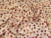 Floral Crepe Fabric  Peach