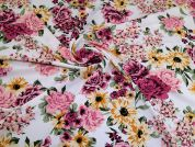 Polyester Crepe Fabric  Pink