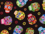 Timeless Treasures Sugar Skulls Poplin Quilting Fabric