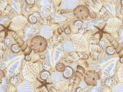 Timeless Treasures Shells Poplin Quilting Fabric