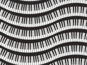 Timeless Treasures Wavy Piano Keys Poplin Quilting Fabric