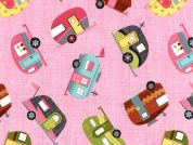 Timeless Treasures Motorhomes Poplin Quilting Fabric