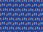 Timeless Treasures Mini Sailboats Poplin Quilting Fabric
