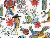 Timeless Treasures Fun Birds Poplin Quilting Fabric