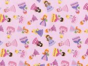 Timeless Treasures Mini Princesses Poplin Quilting Fabric