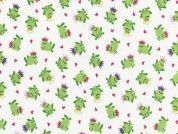 Timeless Treasures Mini Frog Princes Poplin Quilting Fabric