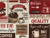 Timeless Treasures Coffee Patchwork Poplin Quilting Fabric