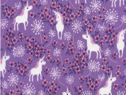 Timeless Treasures Pretty Unicorns Poplin Quilting Fabric