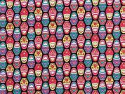 Timeless Treasures Russian Dolls Poplin Quilting Fabric