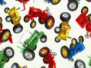 Timeless Treasures Tractors Poplin Quilting Fabric
