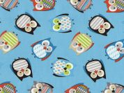 Timeless Treasures Tossed Owls Poplin Quilting Fabric