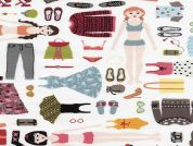 Timeless Treasures Paper Dolls Poplin Quilting Fabric
