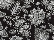 Timeless Treasures Jacobean Floral Poplin Quilting Fabric