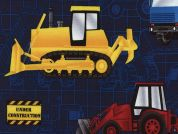 Timeless Treasures Construction Vehicles Poplin Quilting Fabric